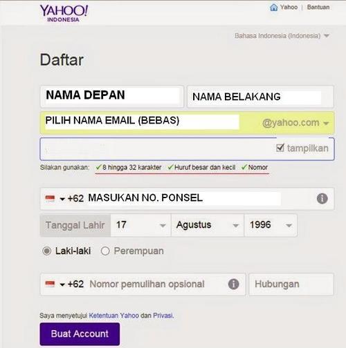 Cara Membuat Email Dari Yahoo Terbaru