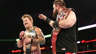 WWE - Chris Jericho se estrena como campeón de los Estados Unidos con ayuda de Kevin Owens