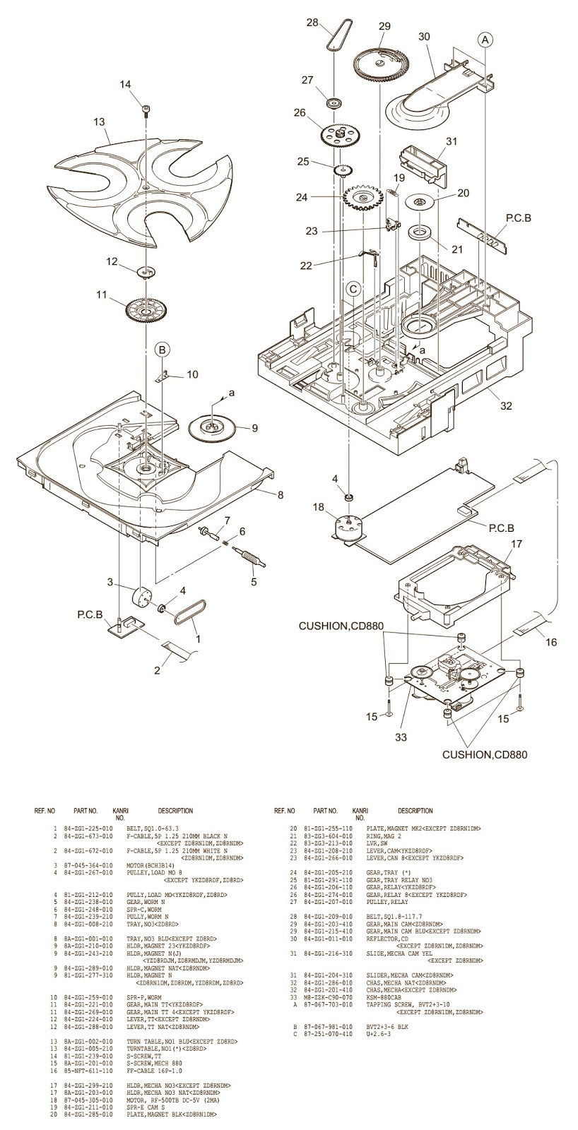 hight resolution of aiwa cd mechanism cd changer how to adjust the rotating wiring diagram