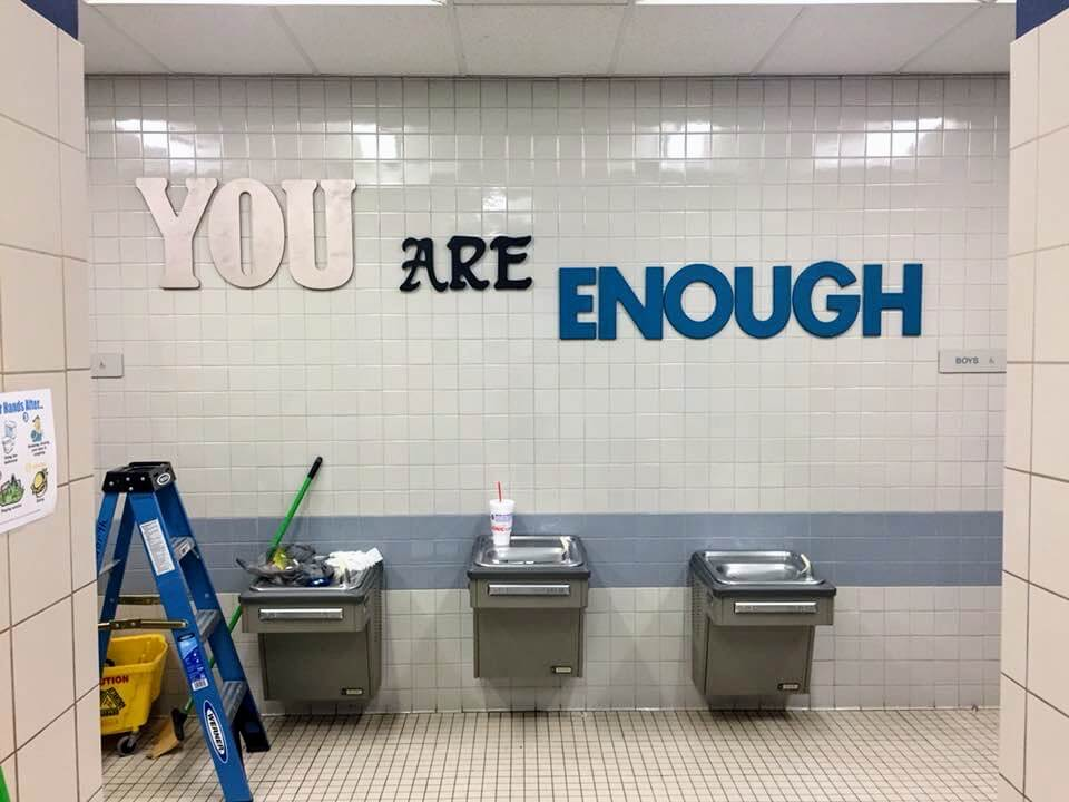 Parents Paint Inspirational Art In Fifth-Grade Bathrooms To Share Compassion And Encouragement After Florida Shooting