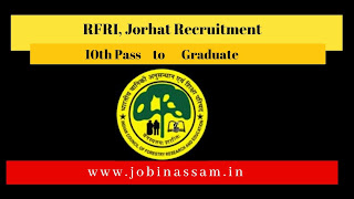 RFRI, Jorhat Recruitment
