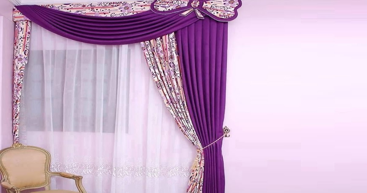 22 latest curtain designs patterns ideas for modern and for Curtains for bedroom windows with designs