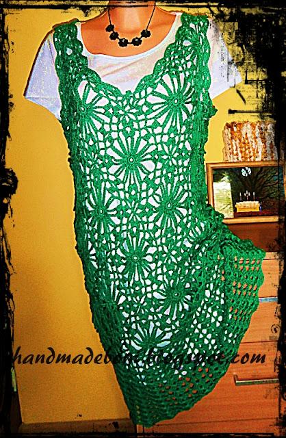 Zielona sukienka . Zrób razem ze mną :-)
