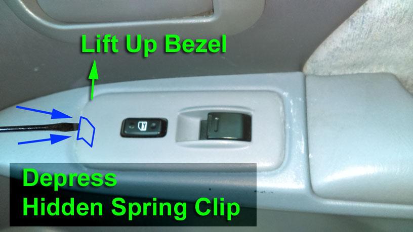 Toyota Sienna Window Control / Door Control Switch Bezel Repair