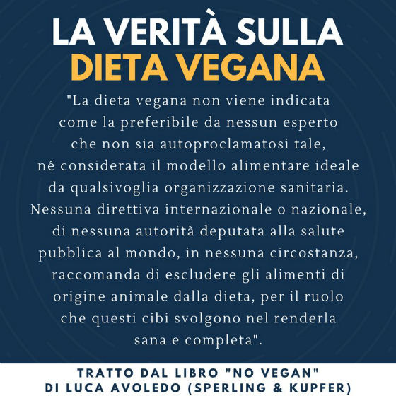 No Vegan: la verità sulla dieta vegana