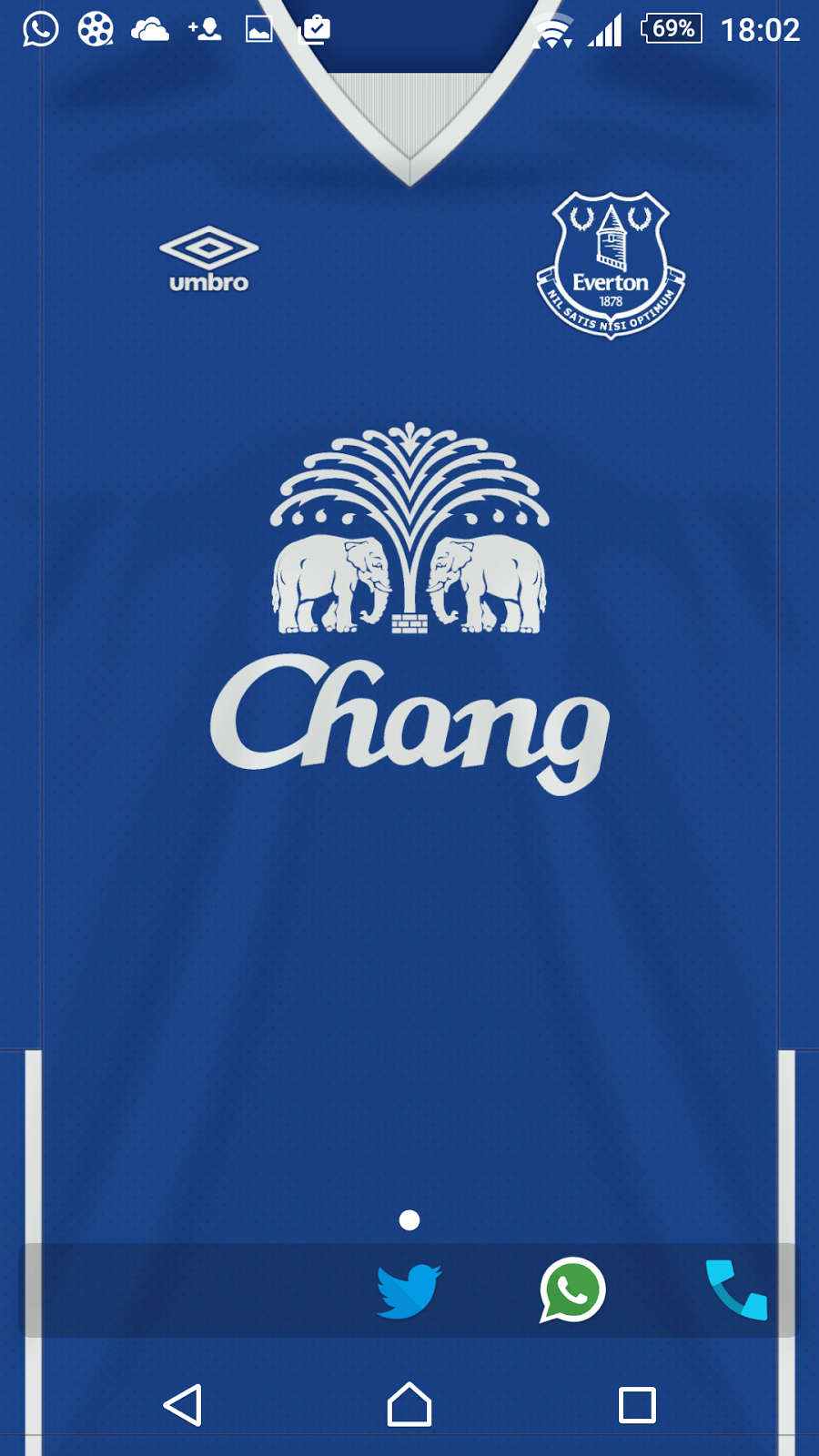 46644fdee Everton 2015 16 home kit wallpaper for your iPhone   Android.