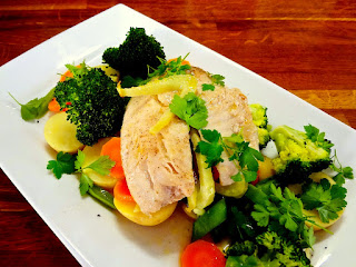 Parcel Baked Tilapia with Steamed Veggies