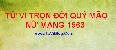 XEM TU VI QUY MAO 1963