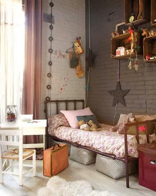 dormitorio loft gris