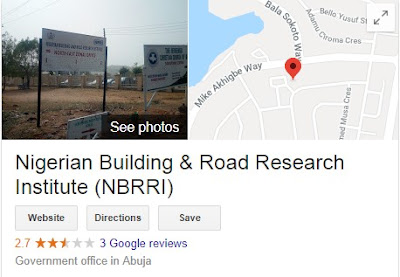 Nigeria Building and Road Research Institute Recruitment Login 2018/2019 | See How To Apply