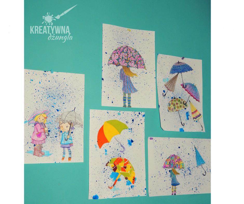 deszcz praca plastyczna parasol