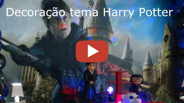 Decoração de aniversário tema Harry Potter - Mesa provençal