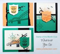 Stampin' Up! Wherever You Go Card Kit for Stamp of the Month Club #stampinup www.juliedavison.com/clubs