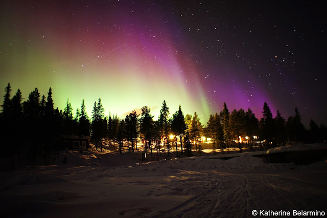 Shooting Star or Satellite Northern Lights