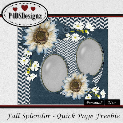 Fall Splendor Kit and Freebie Quick Page