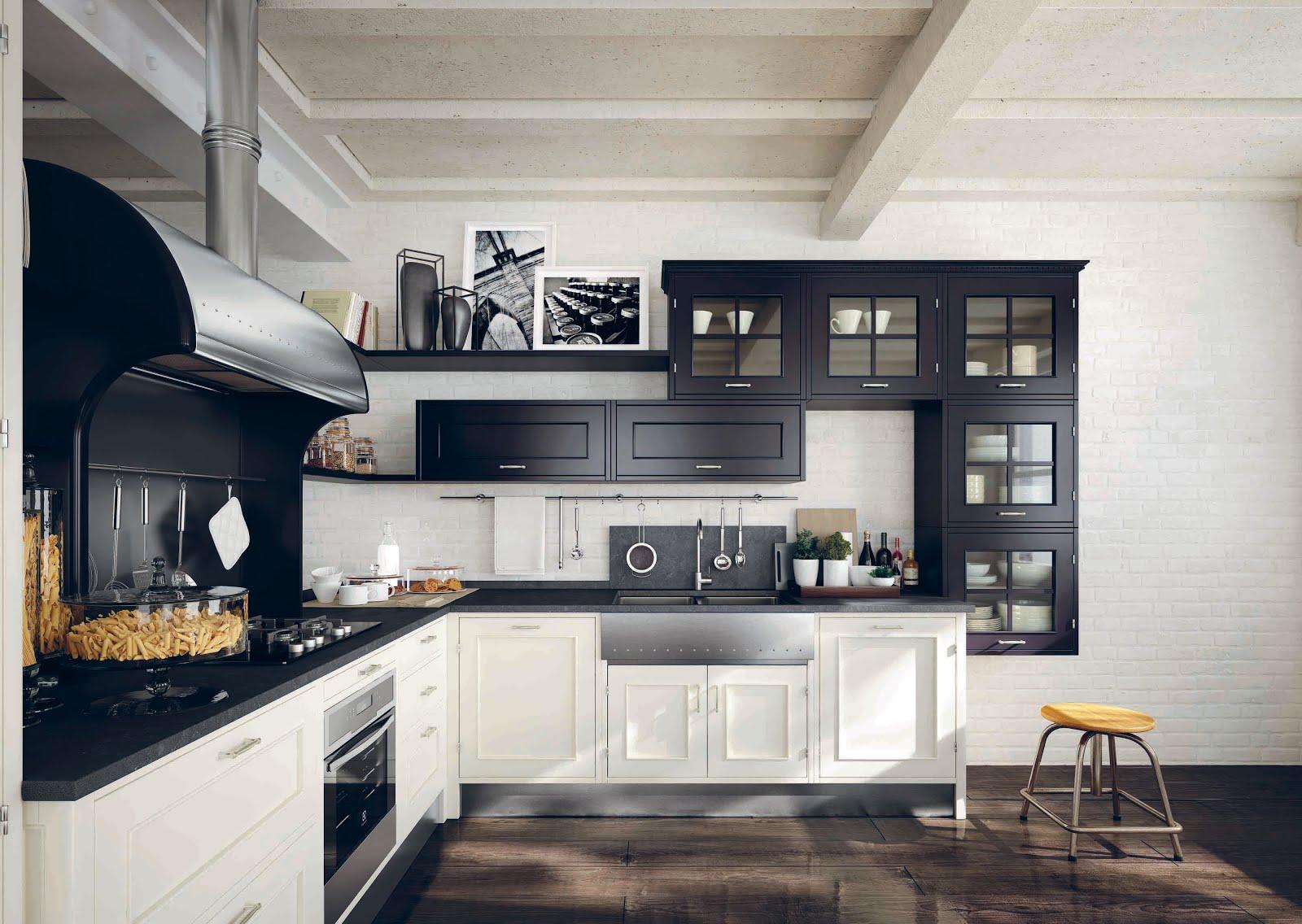 arredo e design marchi cucine montserrat con la finitura nera. Black Bedroom Furniture Sets. Home Design Ideas