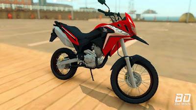 Download do mod da moto Honda XRE 300 2019 para o jogo GTA San Andreas PC