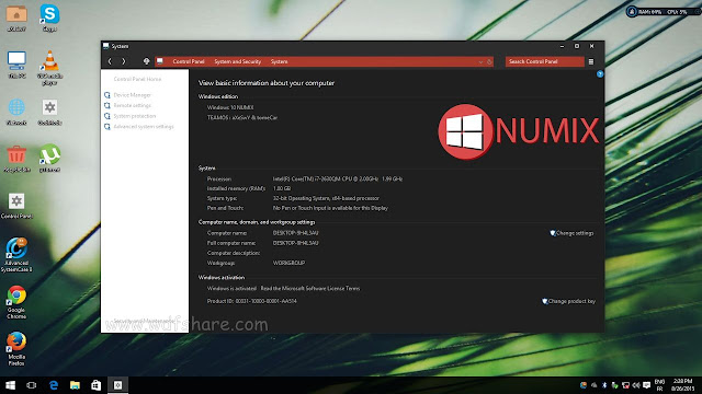 Windows 10 x86 Numix 2015