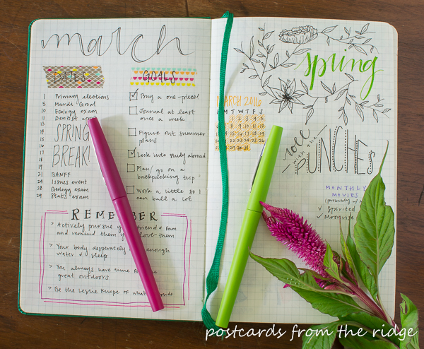 Lots of great tips for starting a bullet journal.