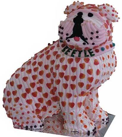 Perro Boxer Pastel de chuches