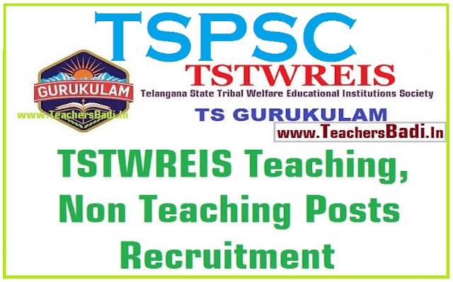 TSPSC to fill Teaching, Non Teaching Posts in TTWREIS Gurukulams /Institutions 2016