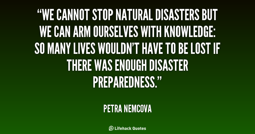 Quotes About Natural Disasters: School On Blog By Dr. Abercio V