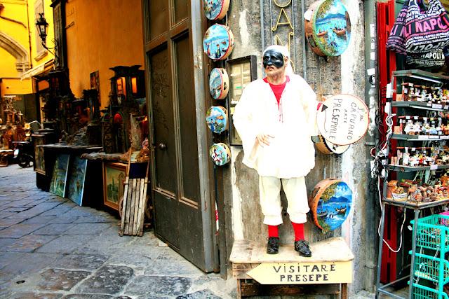 Spaccanapoli, statua, artigianato, quadri, esposizione, Napoli