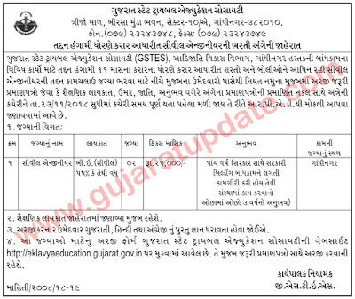 GSTES Recruitment for Civil Engineer Posts 2018