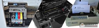 Jenis printer yang bisa dipilih untuk pencetakan