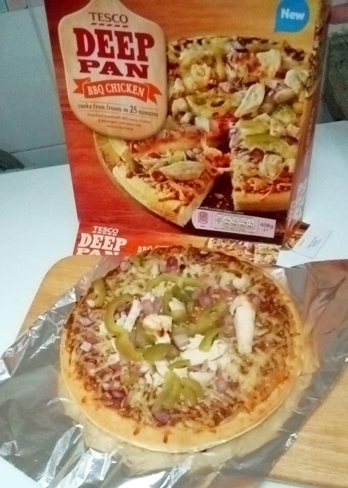 Supersupergirls Food Reviews Tesco Deep Pan Bbq Chicken Pizza