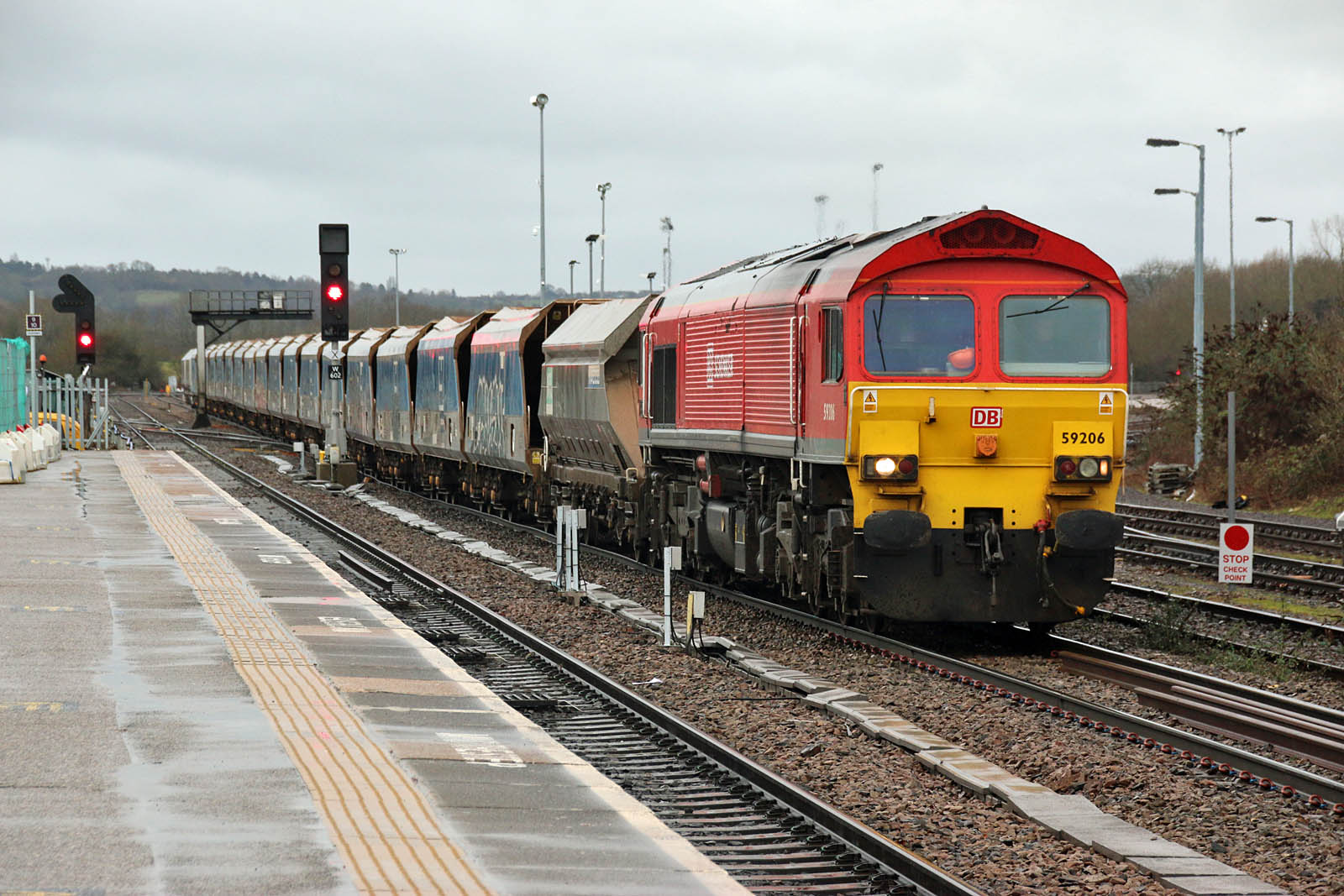 47s and other Classic Power at Southampton: DB Cargo Red, Westbury