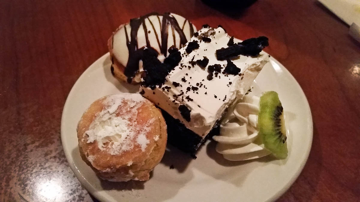 Cream Puffs and Cake at Morongo's Potrero Canyon Buffet