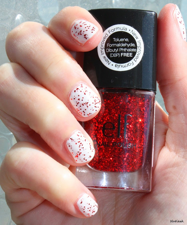 vernis à ongles E L F  Love me et   blanc de nail girls colour