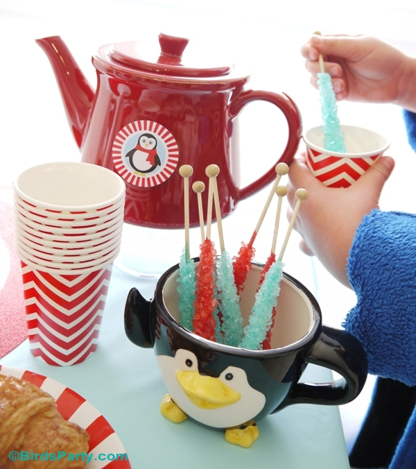 North Pole Christmas Breakfast Table Ideas with free printables - BirdsParty.com