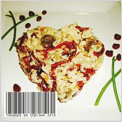 Risoto de Tomate Seco e Amendoim
