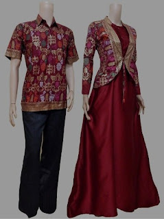 Model baju batik couple mewah