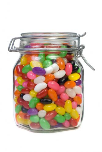 Royalty-free (RF) Clipart Illustration of a Jar Full Of ... |Jelly Bean Jar Clipart