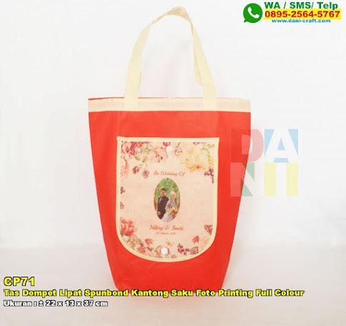 Tas Dompet Lipat Spunbond Kantong Saku Foto Printing Full Colour