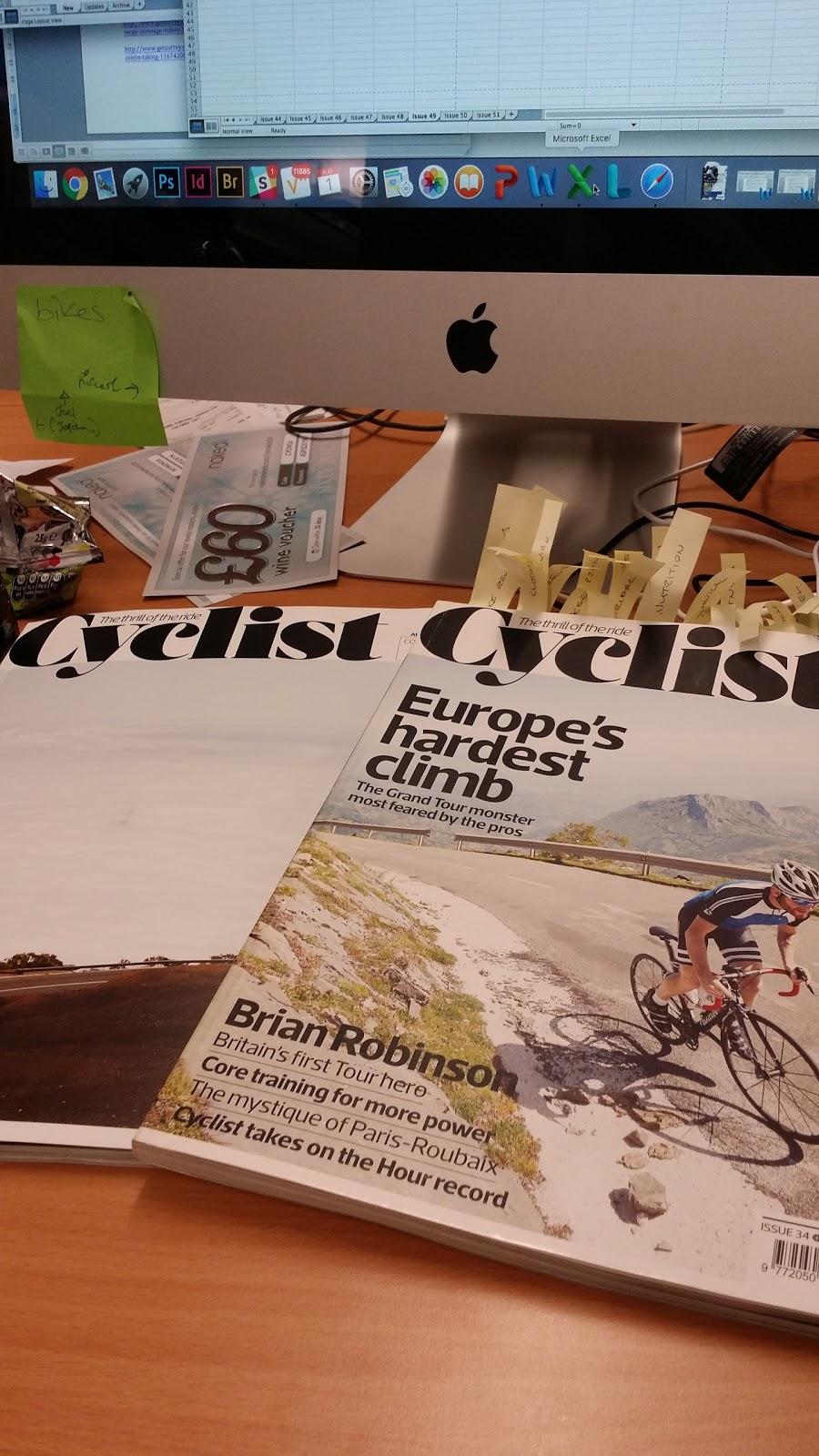 Cyclist Magazine internship northumbria university