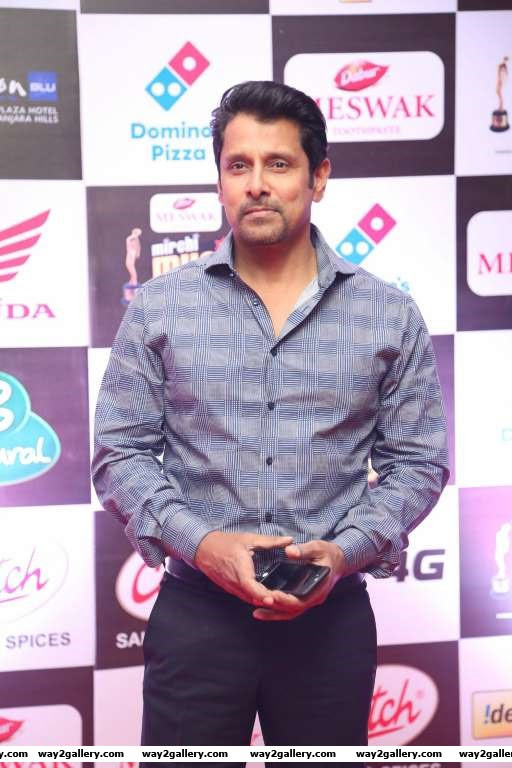 Tamil actor Vikram attended the Mirchi Music Awards South