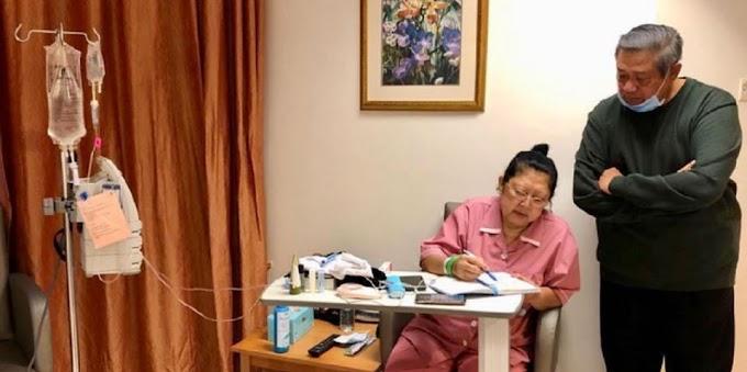 Presiden Joko Widodo Jenguk Ibu Ani Yudhoyono Sore ini! Harapan Netizen?