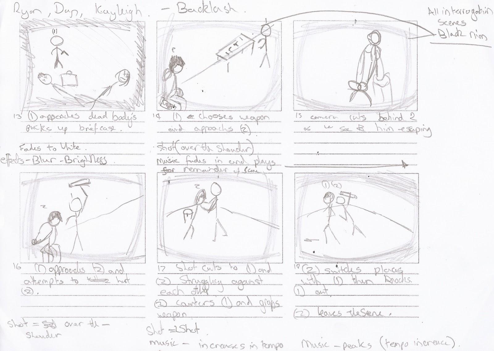 AS Media Studies: Title card, storyboard, script, filming
