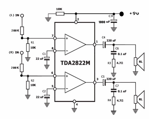 diagrama circuito integrado tda j  electronica diagramas