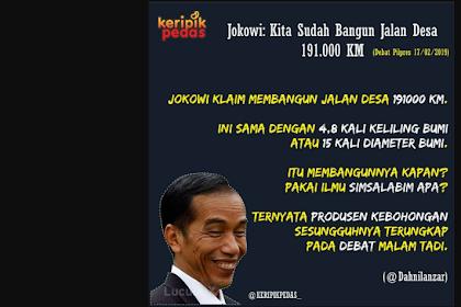 Dahnil Pertanyakan Klaim Jokowi Bangun 191 Ribu Km, Setara 4,8 kali Keliling Bumi, Simsalabim apa?
