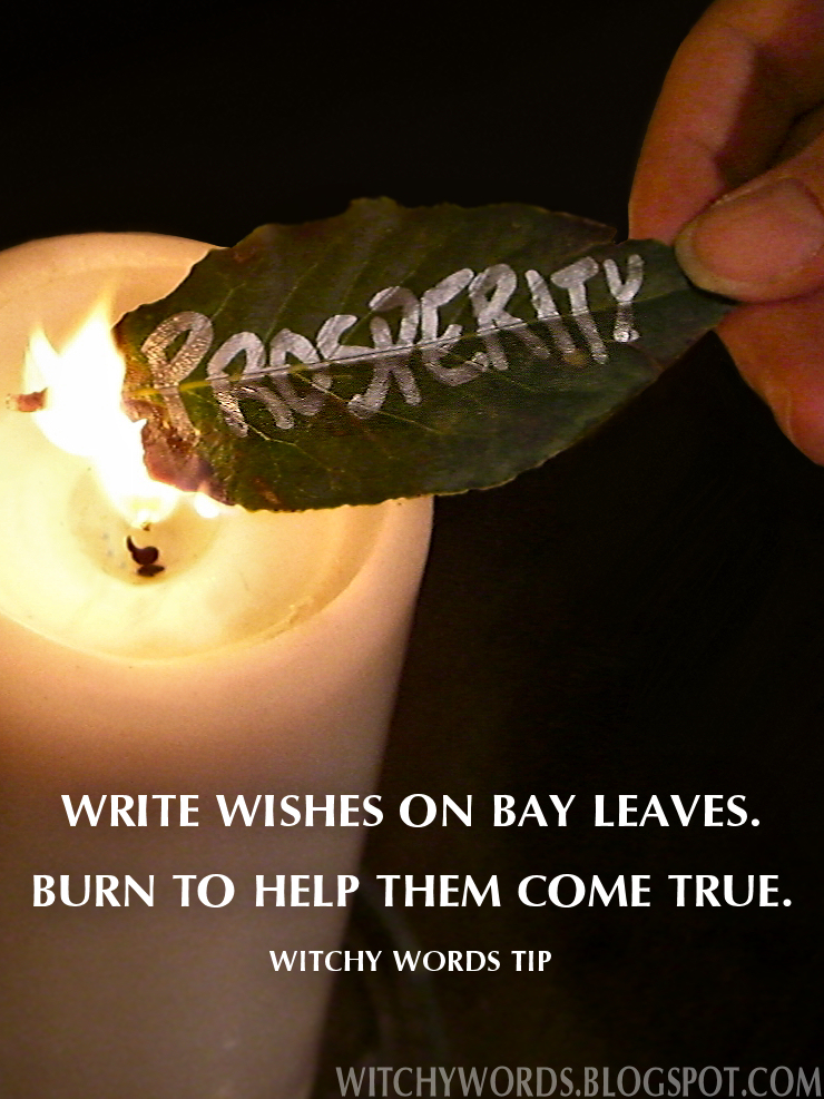 Witchy Words: Tip: Bay Leaves for Wishes