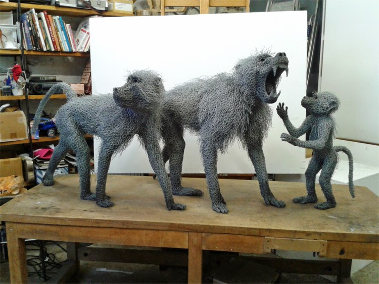 27-Baboon-Troop-Kendra-Haste-Galvanised-Wire-Animal-Sculptures-www-designstack-co