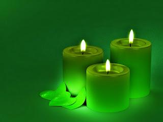 Gyertya színek jelentése: Zöld gyertya