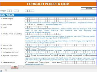 Formulir Pendaftaran Siswa Baru Sesuai Dapodik