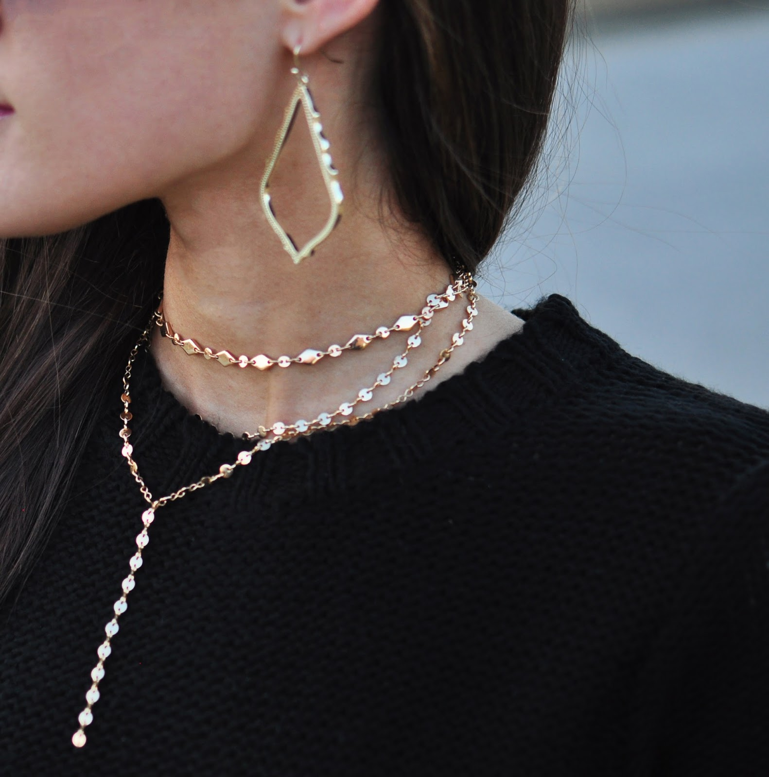Gold layered choker