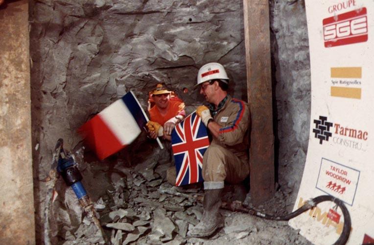 шахтеры англии и франции встретились под Ла-Маншем